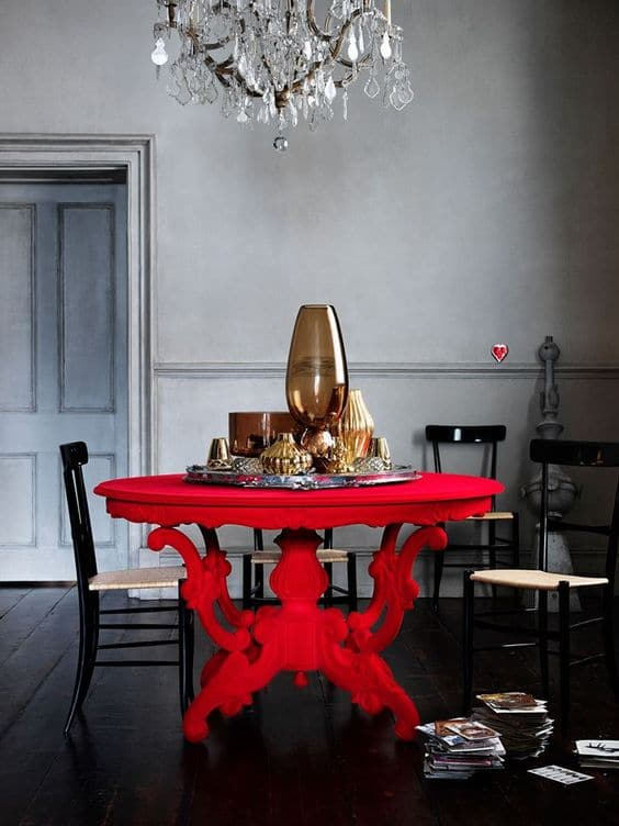 Decorating with red - furniture
