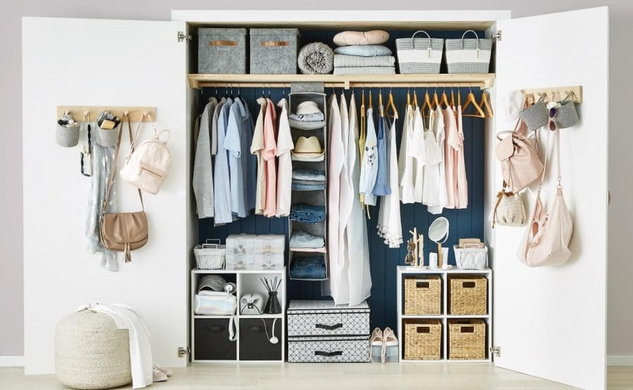 Closet with clothes Kmart