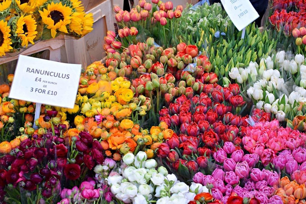 Life in london: flower market
