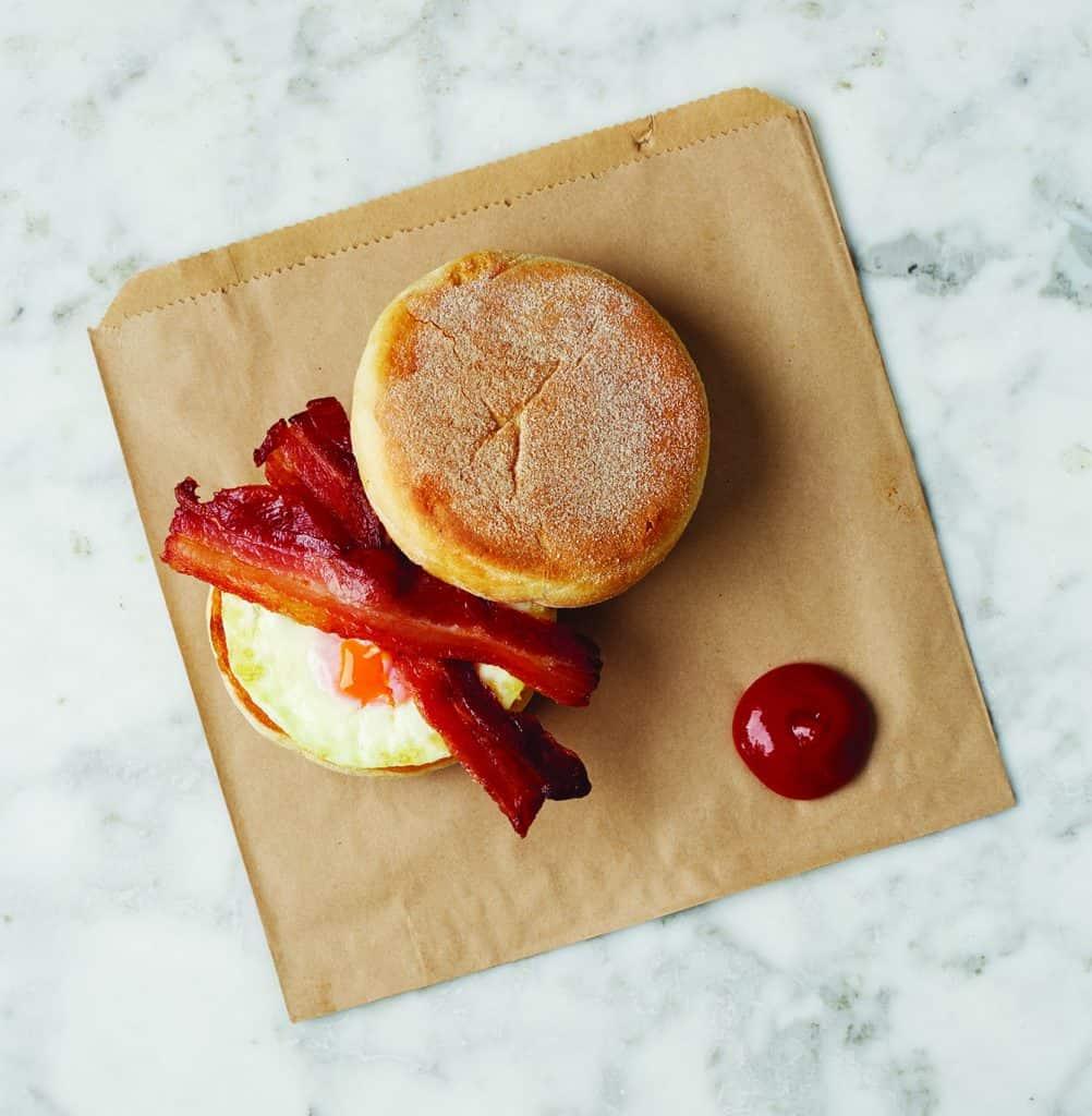 Egg & Bacon Muffin, yum!