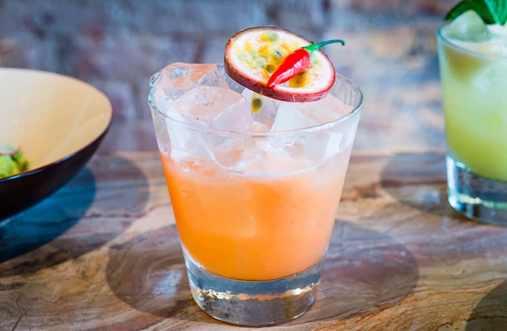 Chilli & Passionfruit Margarita for a hot hot day!